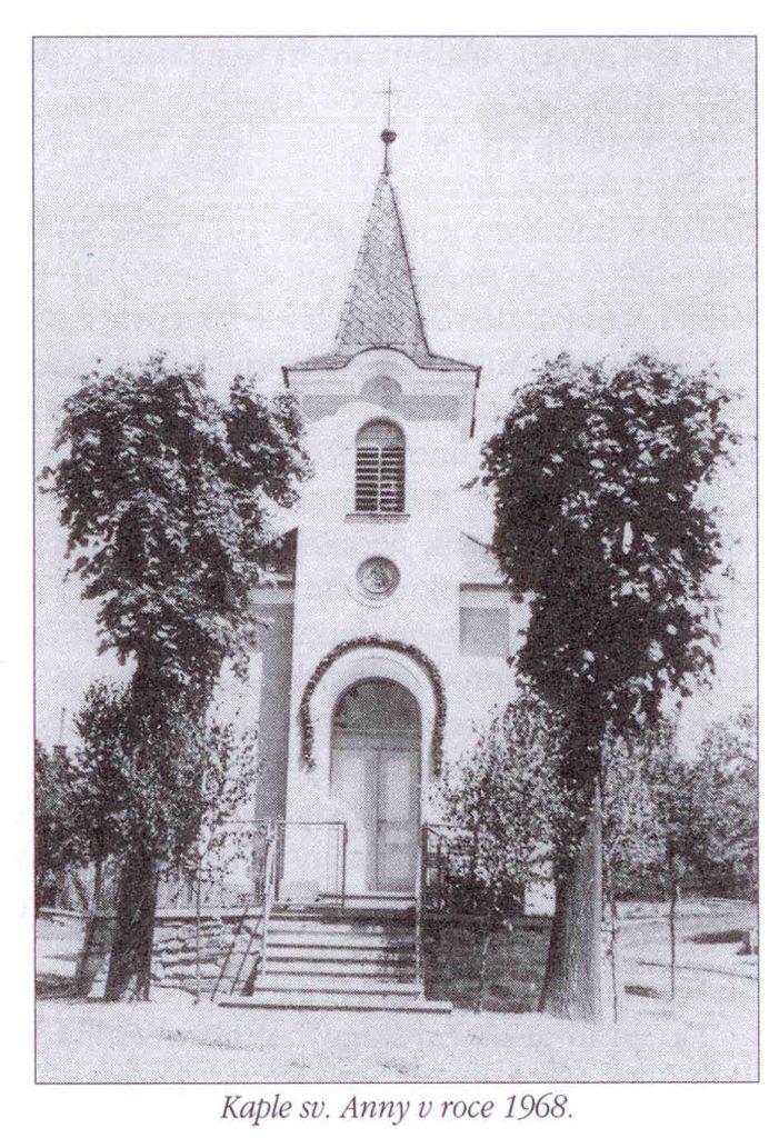 Kaple sv. Anny v roce 1968.